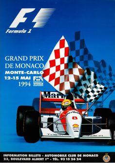 1994 Monaco Grand Prix poster