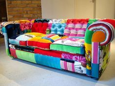 if you noticed the rainbow of colors you might be gay. If you noticed how ugly this couch is, then you are.