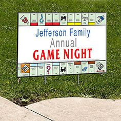 Our Monopoly Board Personalized Yard Signs are printed on both sides and are made of vinyl. Metal stakes are included to secure the stake into the ground.