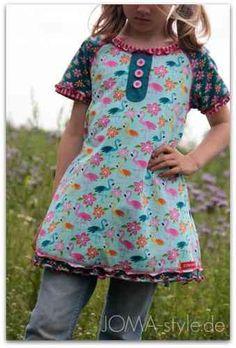 Lillestoff - Aloha Flamingo Raglan kleid - Klimperklein