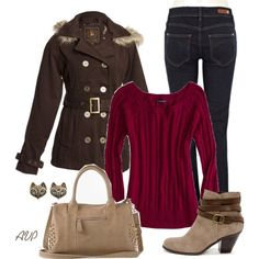 Hooded Pea Coat, created by amy-phelps on Polyvore