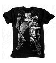 NEW! Original Black Slasher T Shirt Black  Our Price: $28.00  Sale Price: $19.99   #Introducing #OriginalBlack #new #paint #original #artist #Tattoo #design #Artwork creation now #available at #cluburban.com #freeshipping #onSALe #SALE