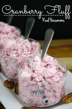 Cranberry luff is a sweet and tart mix of fresh cranberries, pineapples, marshmallows, and Cool Whip. With pecans and grapes added for some crunch. It can be served as a side or a dessert. It is the perfect cranberry dish for all of your holiday meals! Thanksgiving Recipes, Fall Recipes, Holiday Recipes, Thanksgiving Sides, Cranberry Fluff, Fresh Cranberry Salad, Cranberry Salad Recipes, Cranberry Crunch Recipe, Fluff Recipe