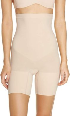 Shop a great selection of SPANX Higher Power Mid-Thigh Shaping Shorts (Regular & Plus Size). Find new offer and Similar products for SPANX Higher Power Mid-Thigh Shaping Shorts (Regular & Plus Size). Women's Shapewear, Nordstrom Anniversary Sale, Compression Shorts, Bridal Lingerie, Spanx, Plus Size Women, Spring Outfits, Plus Size Fashion, Thighs
