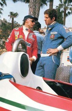 #Lauda #&  Niki Lauda & Jody Scheckter  1977 Monaco Grand Prix  Matteo Olmi Jody Scheckter, Jochen Rindt, Sport Cars, Motor Sport, Monaco Grand Prix, Racing Events, F1 Season, Ferrari F1, Classic Motors