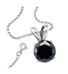 * Penny Deals * - FANTOM Black Cubic Zirconia Necklace Pendant with 18 Inch Rolo Chain in 925 Sterling Silver >>> Read more reviews of the product by visiting the link on the image.
