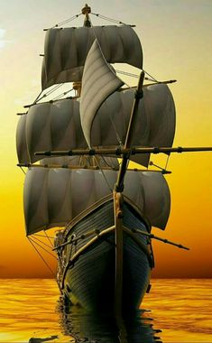 """the-life-is-a-card-game: """"♠ A ♠ """" Ship Tattoo Sleeves, Tall Ships Festival, Moby Dick, Bateau Pirate, Old Sailing Ships, Ship Drawing, Ship Paintings, Wooden Ship, Submarines"""
