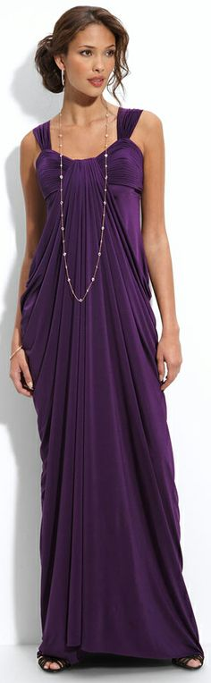 I know the ad is for the dress (and it's really pretty) but I'm totally in love with the hair!  Perfection!!  JS Boutique Draped Jersey Gown | BuyerSelect.com