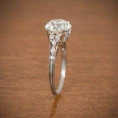 Rare Edwardian Engagement Ring Antique by EstateDiamondJewelry