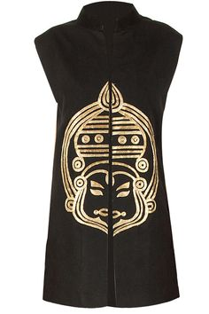Black kathakali waistcoat available only at Pernia's Pop-Up Shop