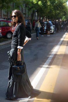 Street fashion: Milan Fashion Week wiosna-lato 2016, fot. Imaxtree