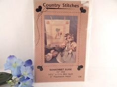 Country Rag Doll Mini Quilt and Patchwork Heart Sewing Craft Pattern 15 Inch Sunbonnet Sue Vintage 1990 Country Stitches Home Decor Pattern