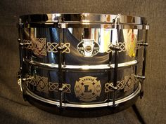 """Ludwig Drums Signature JIM Riley Engraved Stainless Snare Drum 8"""" X 14"""" NEW   eBay"""