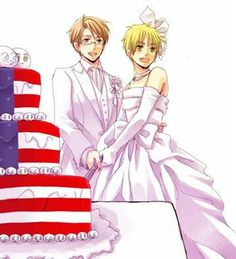 Hetalia USUK marriage
