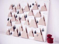 Tutoriel DIY: Fabriquer un calendrier de l'Avent aux montagnes enneigées sur DaWanda.com <3