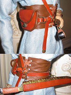 E.V. Svetova's leather belt and seax sheath for the 80 cm ball-jointed doll pictured above Essay on Medieval Clothing | A Journey Through #Medieval Life octavia.net