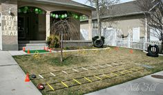 Football Birthday Party Ideas, Obstacle Course -  Nob Hill