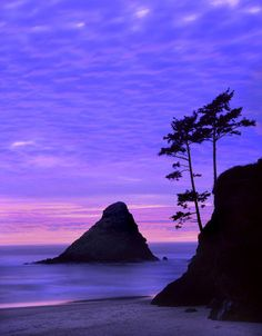 Oregon, Sunset over rock formations at Devil's Elbow State Park. Credit as by Danita Delimont
