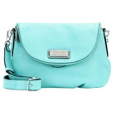 Pre-owned Marc by Marc Jacobs Leather Crossbody Bag ($375) ❤ liked on Polyvore featuring bags, handbags, shoulder bags, turquoise, crossbody purses, marc by marc jacobs crossbody, leather purses, genuine leather shoulder bag and blue leather shoulder bag