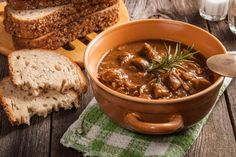 A hearty beef goulash made easy in the slow cooker! Pork Sausage Recipes, Easy Chicken Recipes, Crockpot Recipes, Healthy Recipes, Easy Spanish Recipes, Goulash Soup, Pork Mushroom, Beef Chuck Roast, Spanish Dishes