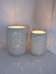 Ceramic Tealight Hurricanes