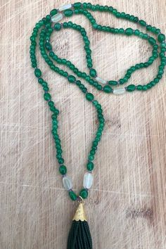 natural emerald stone necklace