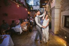 Yelena and Liam's 39 guest courtyard reception. Photos by HannaMonika  See more here.. @intimateweddings.com #receptions #realweddings