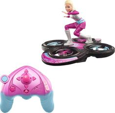 Mattel - Barbie™ Star Light Adventure Quadcopter with Remote Controller - Black, Pink and Blue