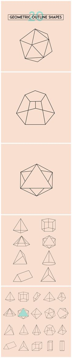 20 Geometric shape vectors for your designs! http://customwebdesignseo.com/product/geometric-shapes-vector/ #graphicdesigner #illustration #clipart #vector