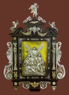 Silver and ebony altar-piece with the Virgin Mary and St. Elizabeth by Anonymous from Augsburg, early 17th century, Skarbiec Paulinów na Jasnej Górze, possibly from the collection of Sigismund III Vasa