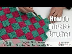 How to Entrelac Crochet - if you try this you will really make a cool afghan!