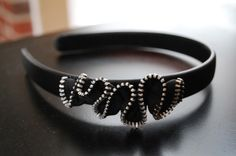 Zipper headband!! BRILLIANT will make for sure!