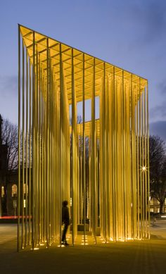 The pavilion's design for office building by Carmody Groarke, beautiful sculpture as architecture