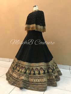 Reception lehenga by MischB Couture