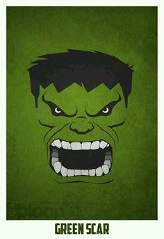 Hulk= green scar