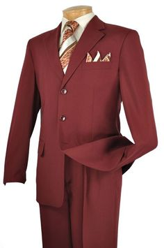 Vinci men's 2 piece solid color discount suit comes in standard length. The single breasted 3 button jacket includes notch lapel, besom pocket, flap pockets and no vents. 2 piece suit comes with pleated pants lined to the knee. Vinci menswear is known for Suit Fashion, Mens Fashion, Gentleman Fashion, Discount Suits, 3 Button Suit, Suits Usa, Men's Suits, Dress Suits For Men, Men Dress