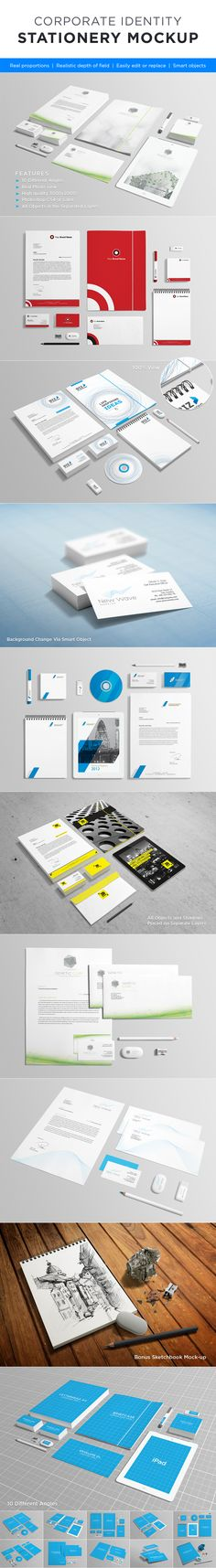 Photorealistic Stationery Mock-up