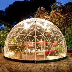 NEW Bubble Tent Garden Igloo Plant Geodesic Dome Walk In Greenhouse Gazebo Party camping, glamping Walk In Greenhouse, Greenhouse Ideas, Greenhouse Panels, Gazebo Ideas, Patio Ideas, Bubble Tent, Hot Tub Cover, Covered Garden, Dome Tent
