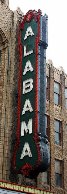 Alabama Theater in downtown B'ham. So many memories from singing along with the red organ to movie marathons in this historic theater! What a beautiful place to be.