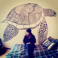 "wallpainting ""turtle"""