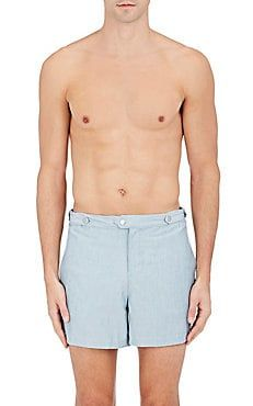 The Kennedy Chambray-Inspired Swim Trunks