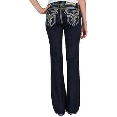 Pre-owned Rock Revival Boot Cut Jeans ($150) ❤ liked on Polyvore