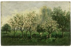 Charles-François Daubigny, (French, 1817–1878), Apple Trees in Blossom, 1860–62.