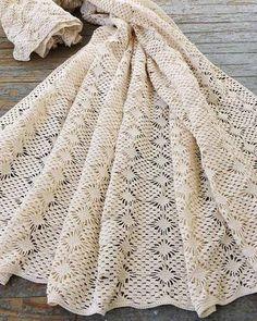 Spider Lace Bedspread Crochet Pattern