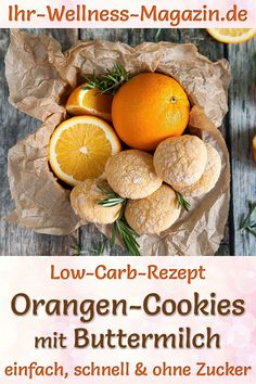 Orangen-Buttermilch-Cookies als DIY-Geschenk Juicy orange buttermilk cookies: simple low-carb recipe for quick Christmas cookies without sugar. Healthy cookies with almond flour and xylitol. Buttermilk Cookies, Almond Flour Cookies, Cookies Et Biscuits, Italian Cookie Recipes, Italian Cookies, Easy Healthy Recipes, Baby Food Recipes, Low Carb Biscuit, Homemade Baby Foods