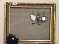 Picture Frame Earring Holder (Tutorial)