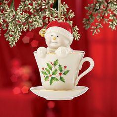 Lenox Coffee Tea and Me Snowman Hanging Ornament
