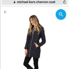 Michael Kors coat CHEVRON COAT Lightweight folds up packable Dark Navy color 🚫trades. Michael Kors Jackets & Coats
