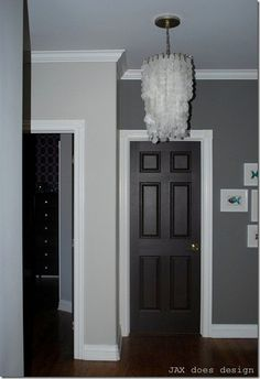 Best decision everinting all our interior doors sherwin black doors white trim and double grey wall on the walls planetlyrics Image collections