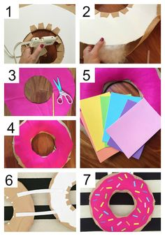 Donut Costume - A Thoughtful Place Coffee & Donut Costume – A Thoughtful Place Coffee & Donut Costume - A Thoughtful Place Coffee & Donut Costume – A Thoughtful Place Easy DIY Dounut (costume) from an inner tube. Costume Cupcake, Costume Bonbon, Donut Costume, Food Costumes, Candy Costumes, Cute Costumes, Halloween Costumes For Kids, Halloween Costume Sewing Patterns, Group Halloween